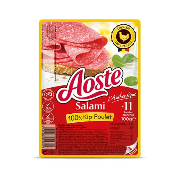 Aoste Salami 100% kip