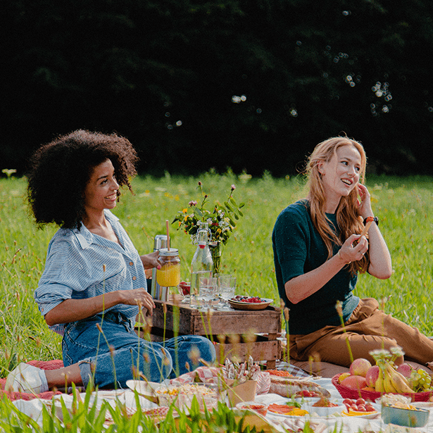 2 vrouwen picknicken